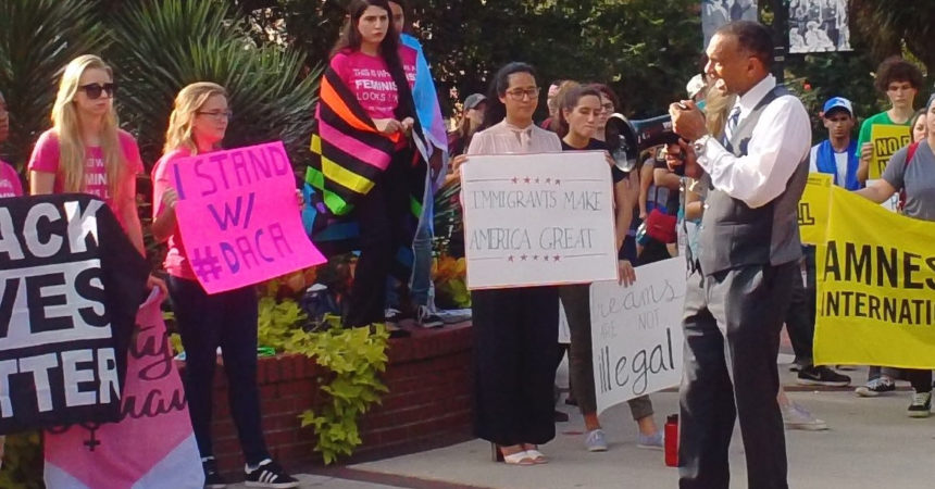 Local DACA supporters express concerns at rally