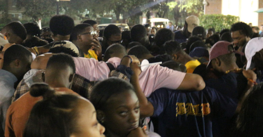 Emotions flow at vigil for two fallen FAMU students
