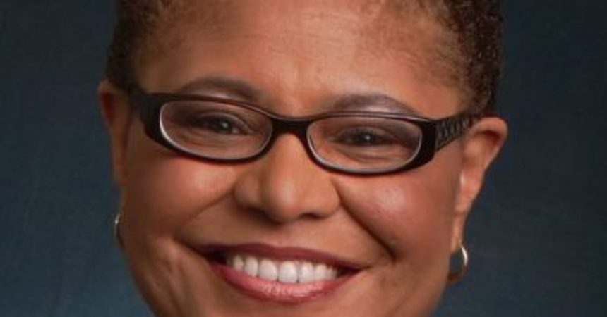 Rep. Karen Bass addresses Black press following House vote on impeachment inquiry