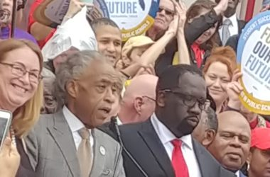 Sharpton joins in protest for increased teachers' pay
