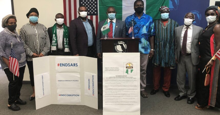 African group with Tallahassee ties demonstrate against police brutality  in Nigeria