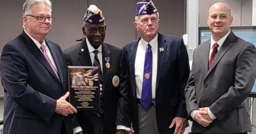 TCC recognized as first Purple Heart Capital College in the country